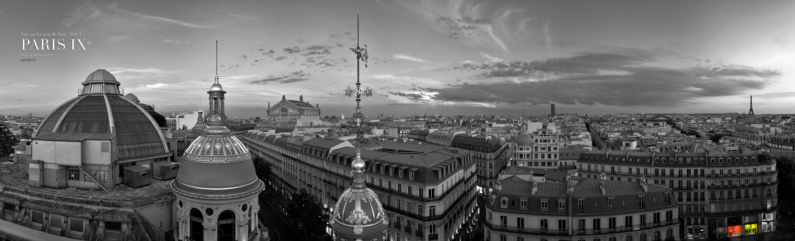 Populaire Toits de Paris : Photo Noir et Blanc Panoramique. | MICHAEL LEVY  IT87