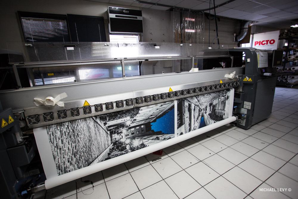 Voici la machine ! À gauche un test taille réelle, à droite un test à 25 %.